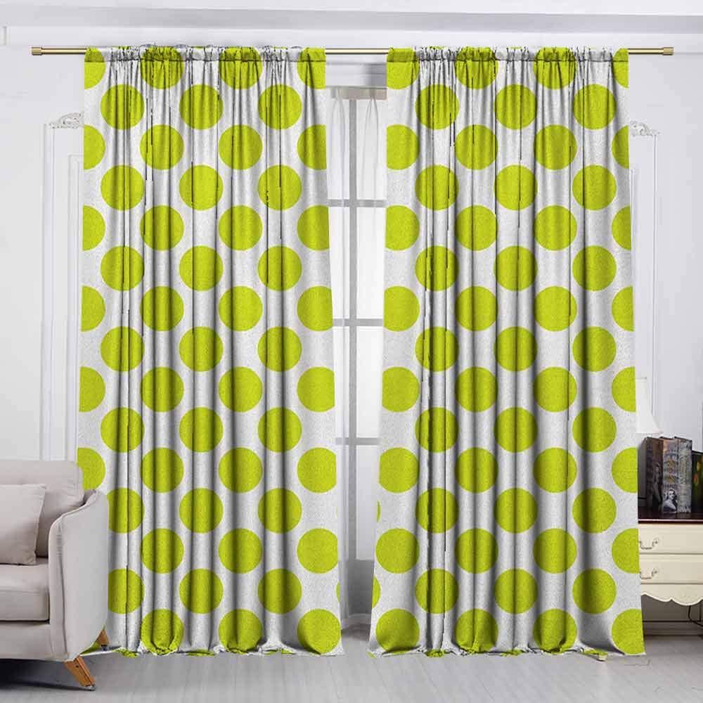 VIVIDX Cortina de Puerta corredera, Color Verde Lima, Fondo vacío, Tono Pastel, Tema de Primavera, Abstracto, eficiencia energética, oscurecimiento de habitación, Verde Manzana: Amazon.es: Hogar