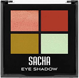 Quad Eye Shadow by Sacha Cosmetics, Best Highly Pigmented Eyeshadow Makeup Powder, Shimmer Glitter & Matte Colors, 1.4 Oz,...