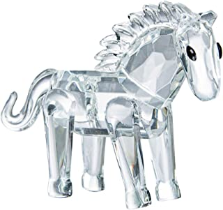 LONGWIN Crystal Animal Figurines Mini Glass Horse Statues Home Table Decoration Ornaments Collectible Gifts
