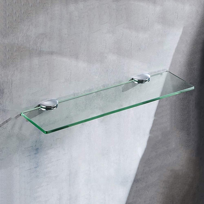 Bathroom Glass Shelf Bathroom Shelf, Tempered Glass Single Layer for Bathroom Toilets Bathroom Shelves (Size   61cm 24inch)