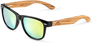 GREENTREEN Bamboo Sunglasses for Men and Women, Polarized Sunglasses UV 400 Protection
