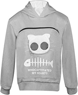 Best cat hoodie with zipper pouch Reviews
