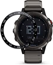 Abanen for Fenix 5/Fenix 5 Plus Watch Bezel,Stainless Steel Sculptured Time Units Cover Anti-Scratch Protection for Garmin Fenix 5/Fenix 5 Plus (Black-White)
