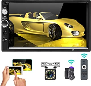 "$59 » Car Stereo Double Din Bluetooth 7"" Touch Screen Car Radio MP5 Video Digital Player Head Unit FM Radio with Remote Control ..."