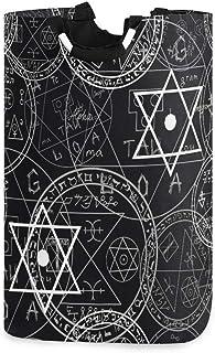 Panier à linge pliable Symboles occultes mystiques sans couture Pentacles Panier à linge Organisateur Panier de rangement ...