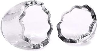 KINGZUO 卵型耐熱ガラスボトル 2個セット 製菓用容器 プリンカップ