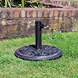 garden mile® Outdoor Parasol Bases for Garden Patio Umbrella Sunshade Holder Stand Cast