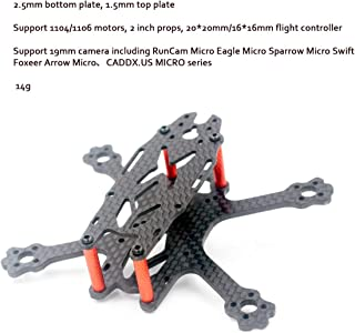 FS95 95mm 2 inch FPV Racing Drone Frame Micro Carbon Fiber Quadcopter Quad Frame for Indoor Outdoor Support for RunCam Micro Eagle Micro Sparrow Micro Swift Foxeer Arrow Micro CADDX.US Micro