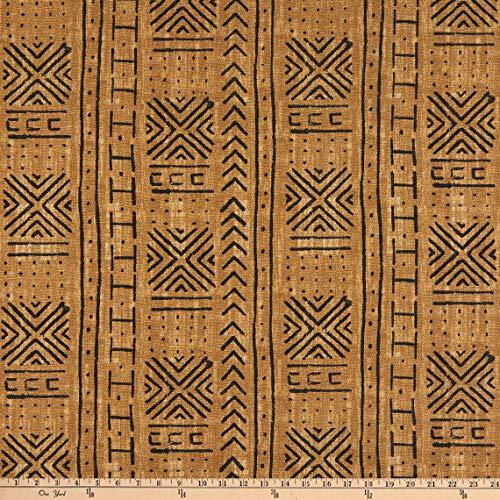 Waverly Fabrics Genevieve Gorder Outdoor Mali Mud Cloth, Pecan