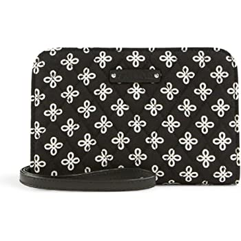 Vera Bradley Zip Around Wristlet/Wallet Clutch in Mini Concerto with Faux Leather Trim