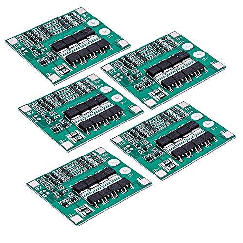 AZDelivery 5 x Scheda di protezione PCB per 3 batterie al litio Modulo scheda BMS con eBook