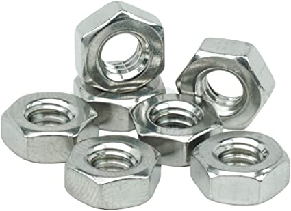 100 Pcs 8-32 Hex Machine Screw Nuts Finished Hex Nuts 316 Stainless Steel