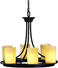 Contemporary Allen + Roth 6-light Oil Rubbed Bronze Chandelier Faux Candle Modern Lighting Home Bedroom Kitchen Bathroom Dining Ceiling Light Fixture