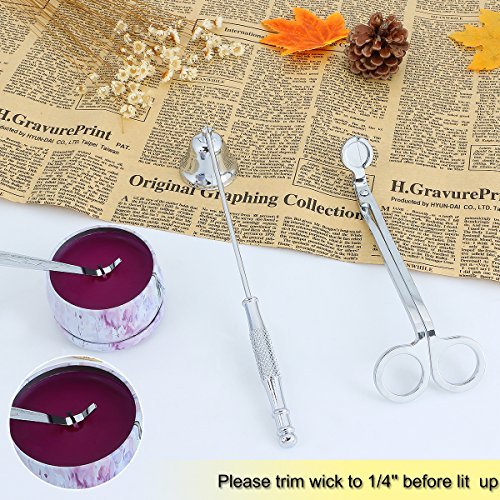 KitchenGynti Candles Snuffer Candle Accessory for Candle Wick Trimmer & Wick Dipper(Silver) …