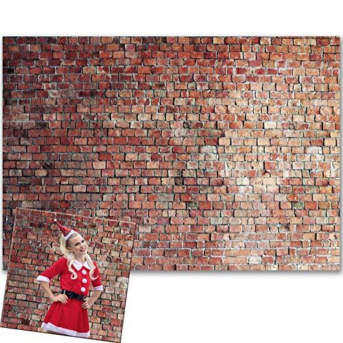 VEOEOV Fondo de fotografía profesional, 2,1 x 1,5 m, diseño de ladrillo rojo vintage, para fotografía, fondo grueso para bodas, cumpleaños, graduaciones, decoración