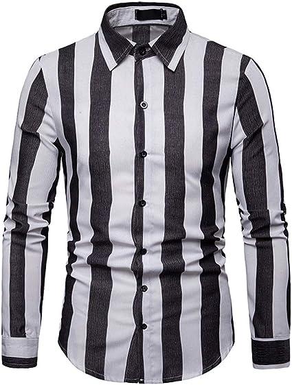 ZDAMN Camisa Ocasional de los Hombres Camisa de Hombre ...