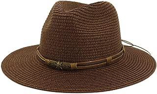 Summer Hat Women Panama Straw Hat Fedora Beach Vacation Wide Brim Visor Casual Summer Sun Hats for Women Sombrero 2019` TuanTuan (Color : Coffee, Size : 56-58CM)