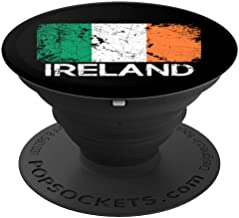 Irish Flag Design   Vintage Made In Ireland Gift - PopSockets Grip and Stand for Phones and Tablets
