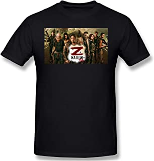 1995la Z Nation Men's Print T Shirts Fashion Short Sleeve