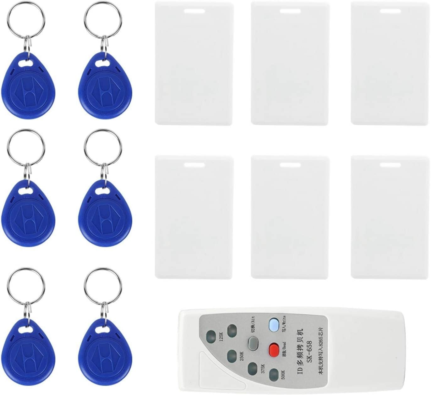 White Id Card Copier, Id Card Reader, Hotel Home Safety Office Apartment Home -Theft System for School Security System Access Control
