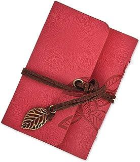 DSstyles Álbumes de fotos 20 bolsillos Portatarjetas para tarjeta de crédito Libro de fotografías para Polariod Fujifilm Instax Mini fotos - Hoja patrón - Rojo