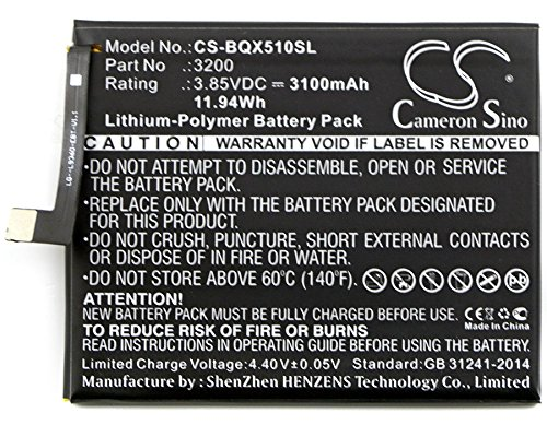 CameronSion - Batería para BQ Aquaris X5 Plus 3200 (3100 mAh)