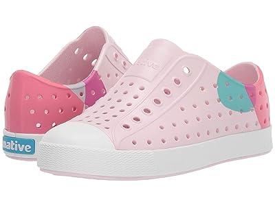 Native Kids Shoes Jefferson Block (Little Kid/Big Kid) (Milk Pink/Shell White/Dot Black) Girl