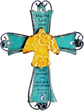 Sell4Style Unique Wooden Crucifix with Antiqued Metal Decorative Dove and Inspirational Prayer Inscribed On Cross Dove (Design 2)