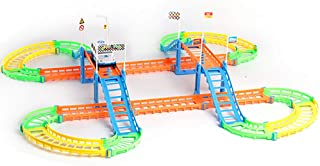 wsloftyGYd Child Kids Two-Layer Assembly Spiral Track Roller Coaster Electric Rail Car Toy