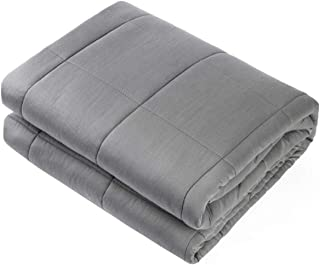 "Waowoo Adult Weighted Blanket Queen Size(15lbs 60""x80"") Heavy Blanket with Premium Glass Beads, (Dark Grey)"
