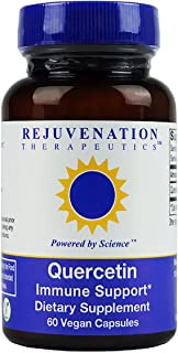 Quercetin by Rejuvenation Therapeutics (300mg, 60 Vegan Capsules) - No Artificial Fillers, Rice or Excipients. Gluten-Free. Powerful Antioxidant.