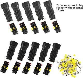 ATPWONZ 10 Set Steckverbinder2 Polig SchnellverbinderIP67 WasserdichtSteckermit Kabelquerschnitt 0.3 mm²   1 mm ² für Auto KFZ Boot