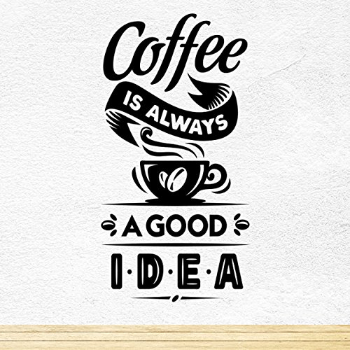 Coffee Good Idea Coppa Kitchen Adesivo da parete decalcomania del vinile Arte Bar Cafe Decor