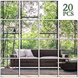 KimDaro Removable Acrylic Decorate Setting Wall Sticker Decal DIY Modern Decoration for Home Living Room Bedroom Decor (20 PCS 15x15cm)