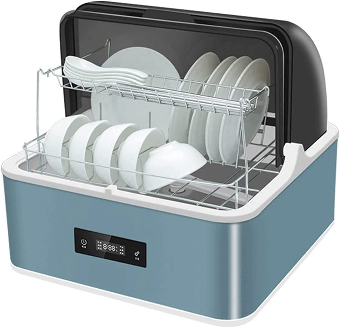 MOSHUO Lavavajillas, lavavajillas portátil de encimera, lavavajillas Multifuncional, 6 programas de Lavado para el hogar, Cocina, Lavado de Platos, Fruta