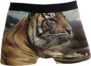 Titlesign Men's Sexy Boxer Briefs Lover Valentine Print Stretch Bulge Pouch Underpants Underwear