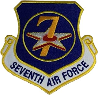 USAF SEVENTH AIR FORCE Unit Patch - Color - Veteran Owned Business