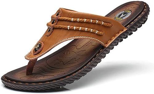 DHFUD Sommer Herren Flip-Flops British Atmungsaktive Sandalen