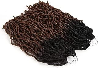 FASHION IDOL Nu Locs Crochet Hair 6 Bundles Faux Locs Crochet Hair 18 Inch Goddess Locs Crochet Ombre Dreadlock Hair Extensions Crochet Twist Braids Hair BROWN OMBRE (TT1B/30)