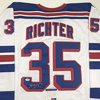 Autographed/Signed Mike Richter New York White Hockey Jersey PSA/DNA COA