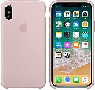 Funda Silicona para iPhone XS MAX Silicone Case, Textura Suave, Forro Microfibra (Rosa Arena)