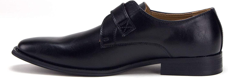 Jazame Men's D-496 Urban Monk-Strap Loafers Dress Shoe