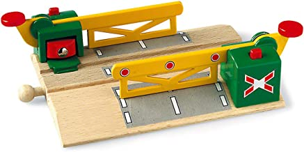 BRIO World - 33750 Magnetic Action Crossing | Toy Train Accessory for Kids Ages 3 and Up