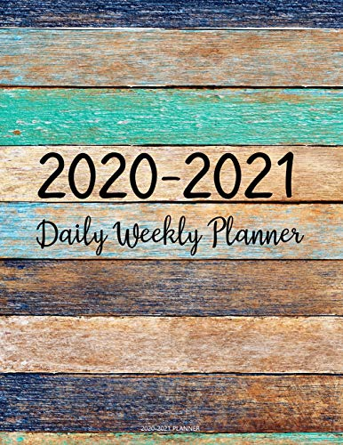 2020-2021 Planner: Jan 2020 - Dec 2021 2 Year Daily Weekly Monthly Calendar Planner W/ To Do List Academic Schedule Agenda Logbook Or Student & ... Planners W/ Holidays Painted Color Wood