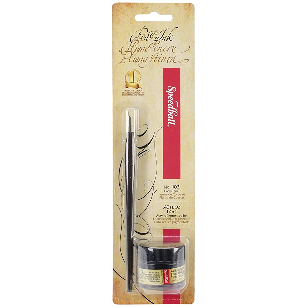 Speedball Calligraphy Pen and Ink Set, Black
