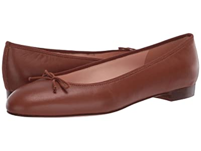 J.Crew Leather Uptown Classic Ballet (Warm Sepia) Women