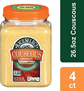 RiceSelect Original Couscous, 26.5 oz Jars (Pack of 4)