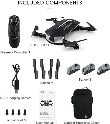orden en línea EdBerk74 JJR   C H37 Mini Baby Elfie Drone Drone Drone 2.4G 4CH Wi-Fi Plegable de 6 Ejes RC Quadcopter con 3 baterías 720P Control de altitud de cámara  punto de venta barato