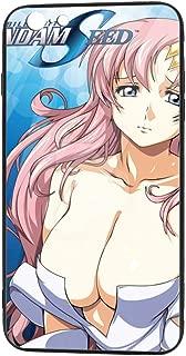 Iphone6/6S TPU Glass Phone Case Anime Mobile Suit Gundam Seed Sexy Lacus Clyne Anime Black