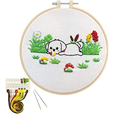 Cross Stitch Kits Christmas dog/Preprinted pattern Counted Embroidery Starter Kits for Beginner Kids and Adults Home Decoration Christmas Gifts(40x50cm)